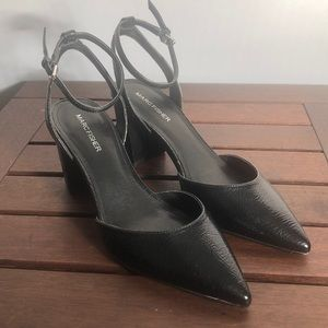 Marc Fisher Patent Leather Pointed Block Heels